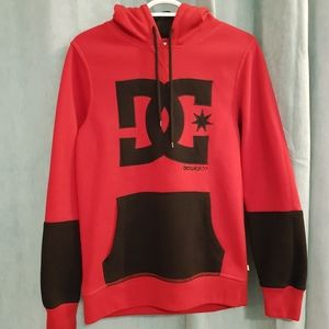 DC shoes hoodie, red and black